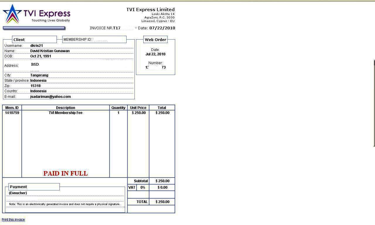 Contoh Invoice Via Email Letter Guarantee